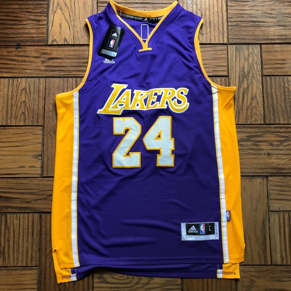 NWT LA Lakers Kobe Bryant Adidas Swingman Jersey